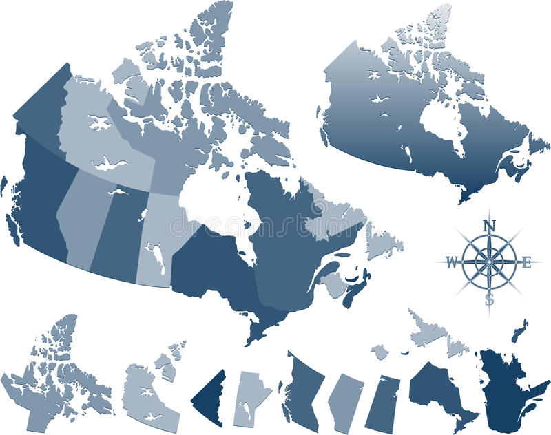 Canada map stock image