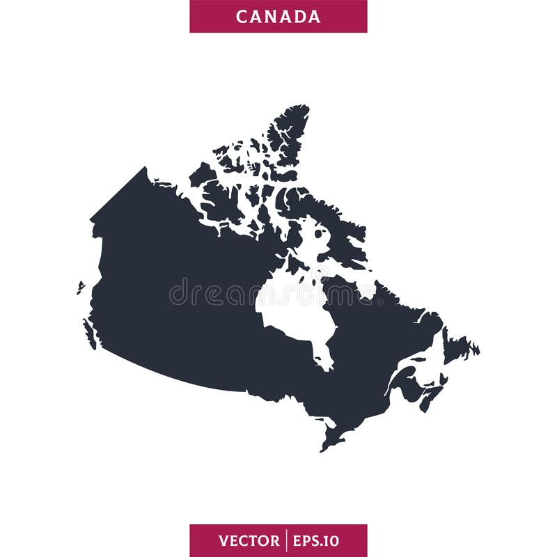Free Canada Map. High Detailed Map Vector In White Background. Stock Image - 183125051