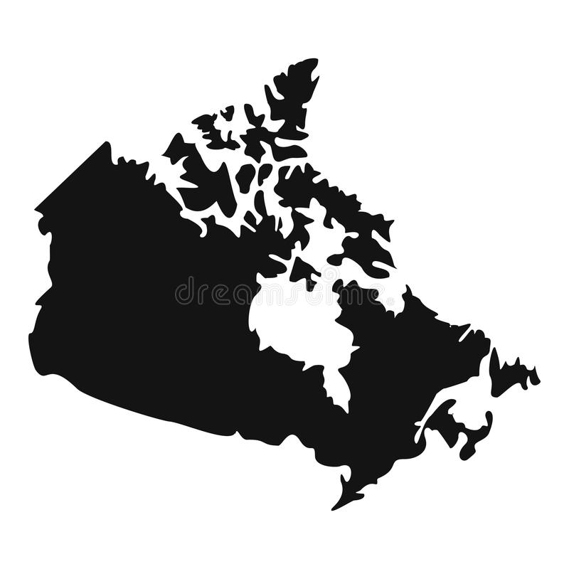 Canada Map Icon Simple Style Stock Vector Illustration of america