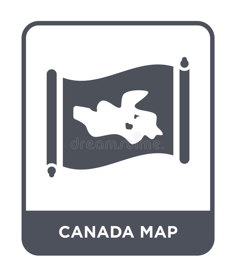 Canada map icon in trendy design style. canada map icon isolated on white background. canada map vector icon simple and modern. Flat symbol for web site, mobile vector illustration