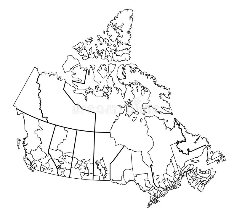 canada mapa ilustracji