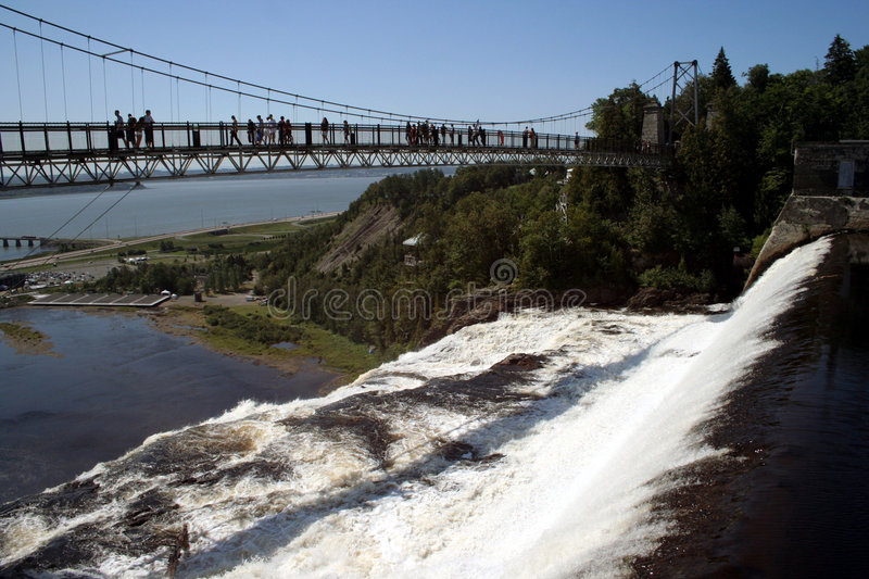 Canada Montmorency Falls royalty free stock image