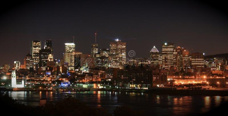 canada Montreal noc linia horyzontu fotografia royalty free