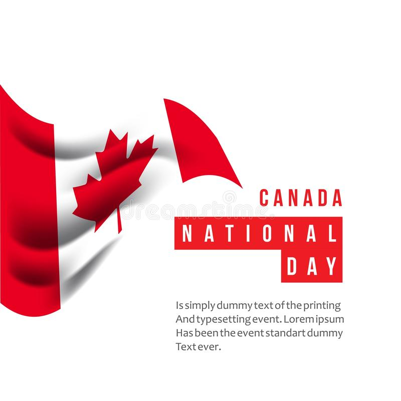 Canada National Day Vector Template Design Illustration royalty free illustration