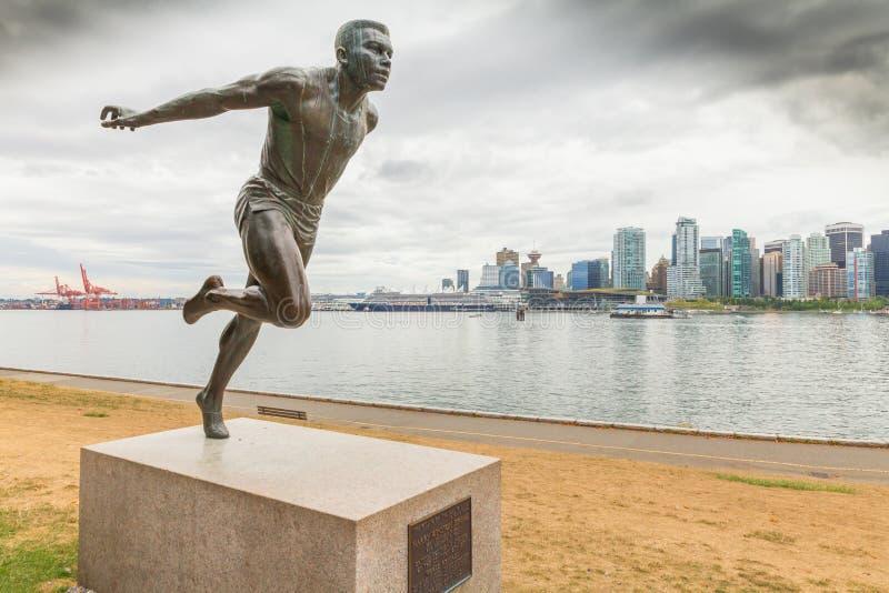 Canada occidental de Vancouver de statue de Jerome de wiston de Herry photographie stock