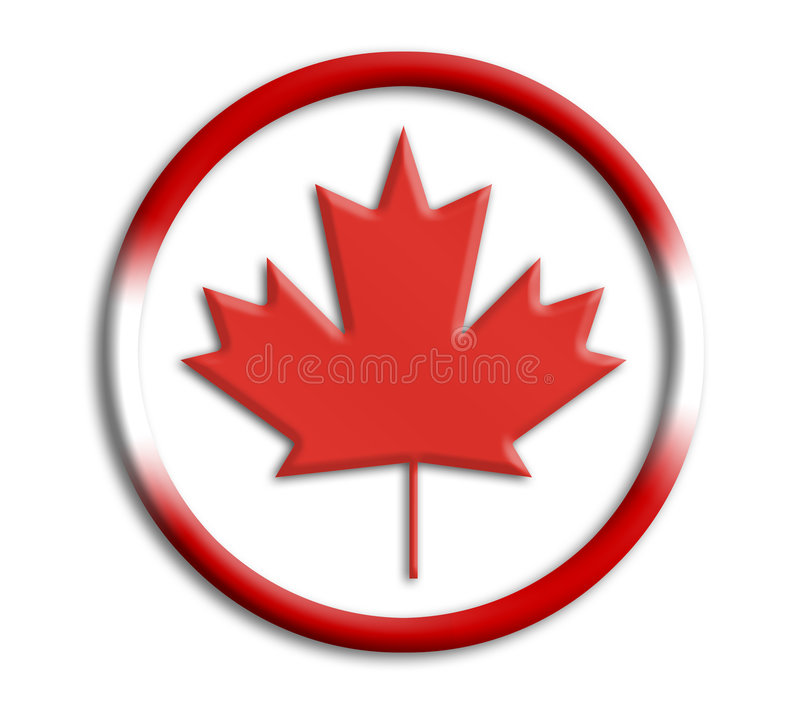 canada olimpiady tarczy royalty ilustracja