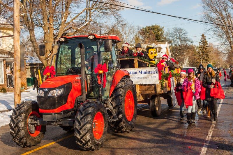 08/12/2018 Canada ontario Fenwick Santa Claus Parade stock afbeelding