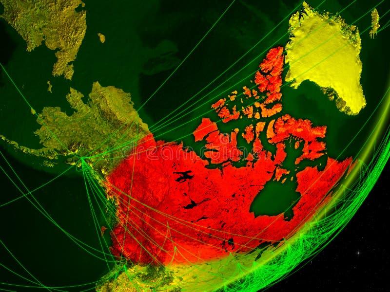 Canada op digitale Aarde royalty-vrije illustratie