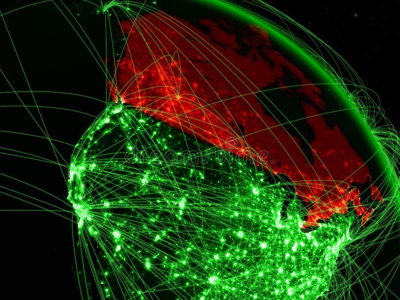 Canada op groene bol vector illustratie