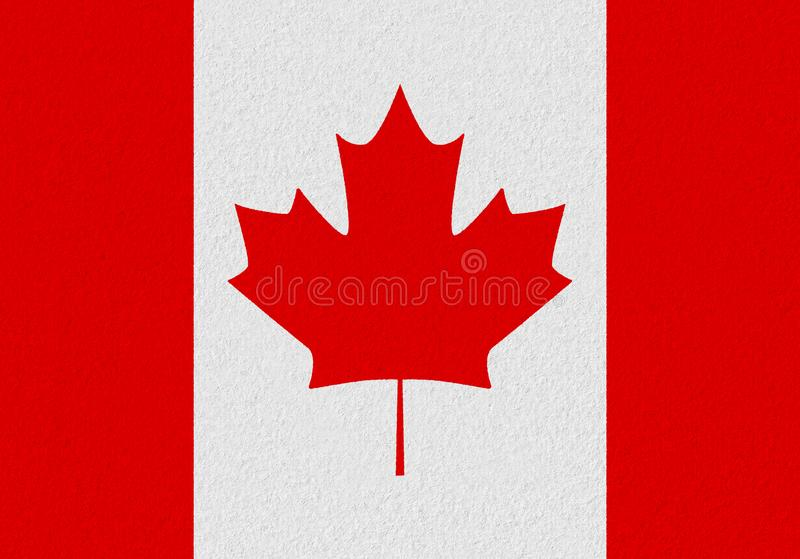 Canada paper flag stock images