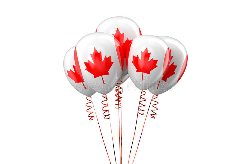 Canada patriotic balloons, holyday concept. Isolated on white background royalty free illustration