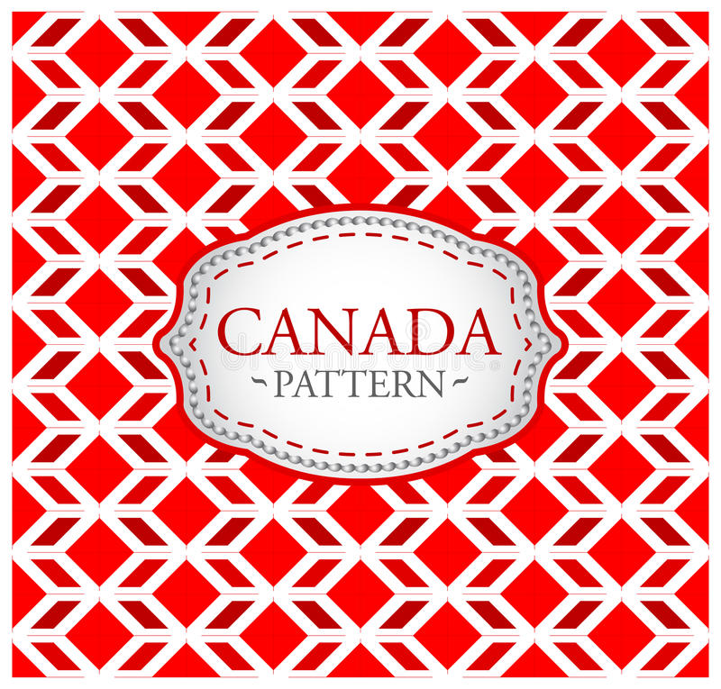 Canada pattern. Background texture and emblem with the colors of the flag of Canada - eps available stock illustration