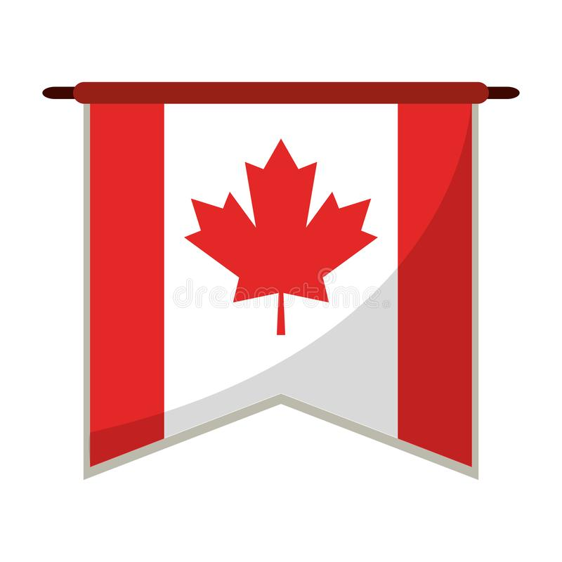 Canada pennant flag symbol. Vector illustration graphic design vector illustration
