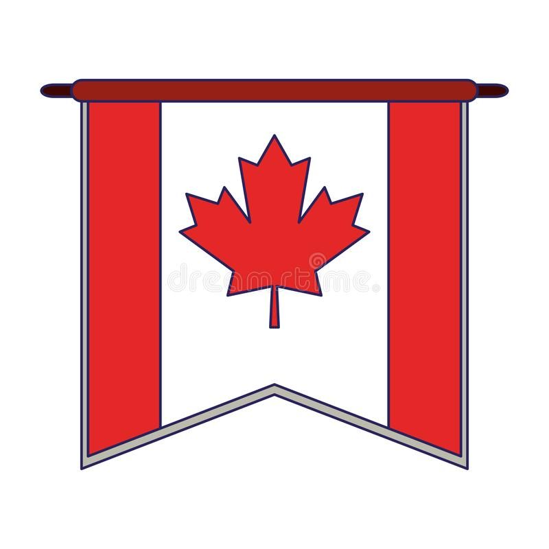 Canada pennant flag symbol. Vector illustration graphic design royalty free illustration