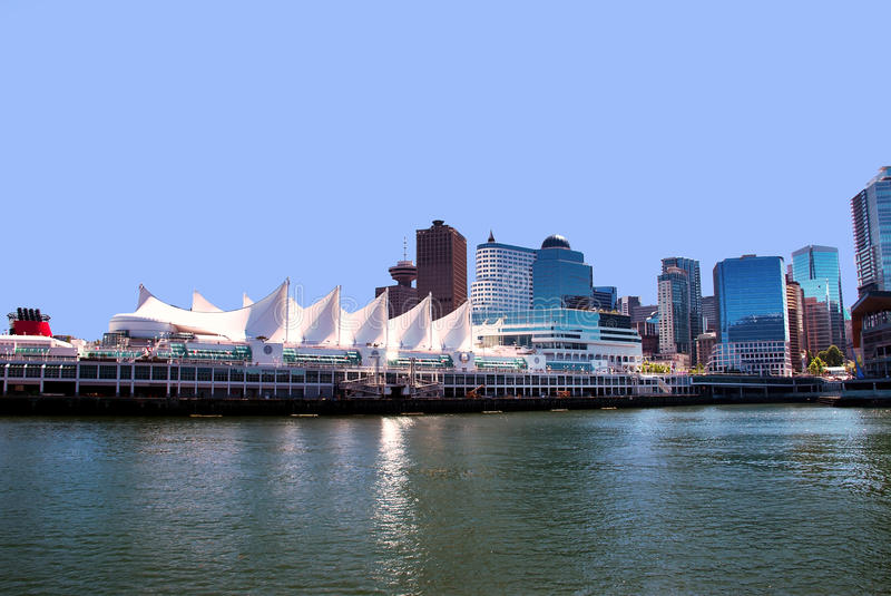 Canada place. In Vancouver BC Canada a port of entry departure for cruise ships stock images