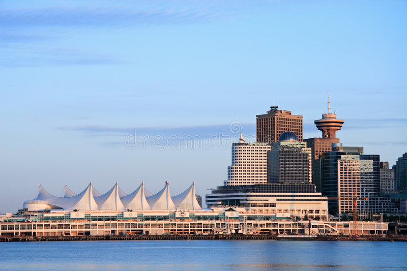 Download Canada Place stock photo. Image of sunset, cityscape, coast - 885430