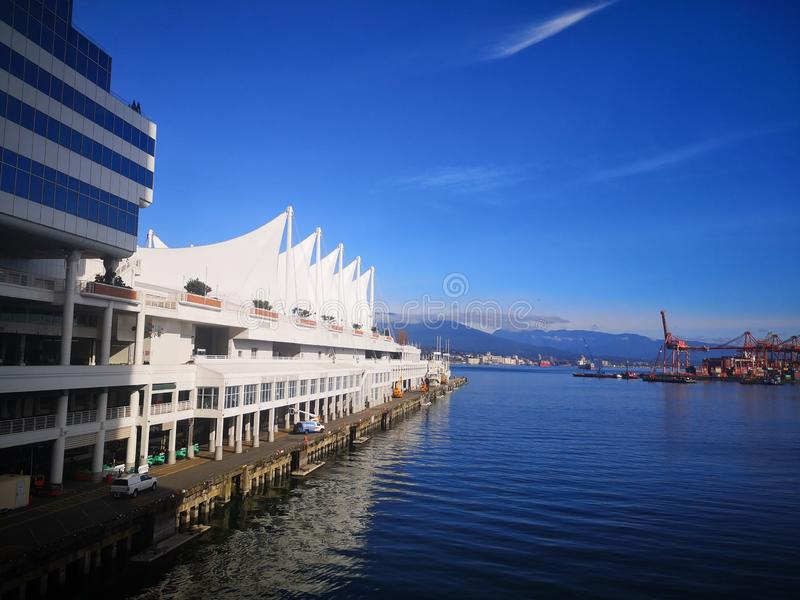 Canada Place in Vancouver stock photos