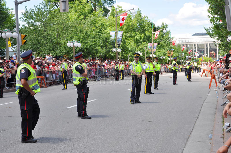 Canada police on guard. RCMP police on guard in Canada Day, Ottawa royalty free stock photos