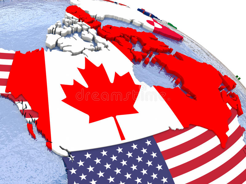 download canada on political map stock illustration illustration of america 69782249