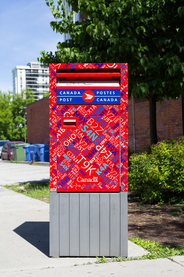 Canada Post Box stock image