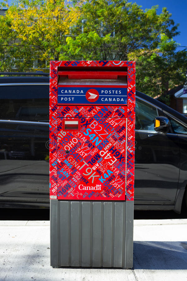 Canada post box royalty free stock photo