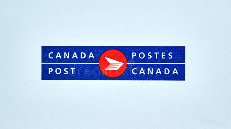 Canada Post logo on white royalty free stock photo