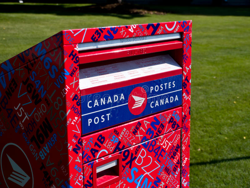 Download Canada post mailbox editorial stock photo. Image of post - 20756343