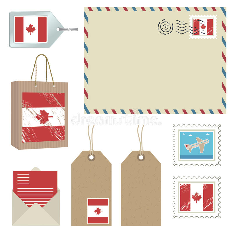 Download Canada postage stock vector. Illustration of string, stamp - 13536992