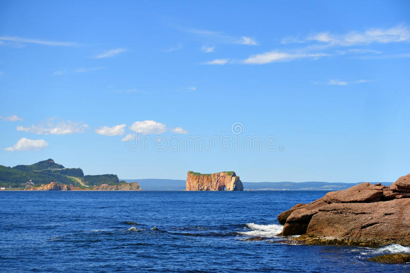 Canada Quebec Gaspe Perce Rock royalty free stock image