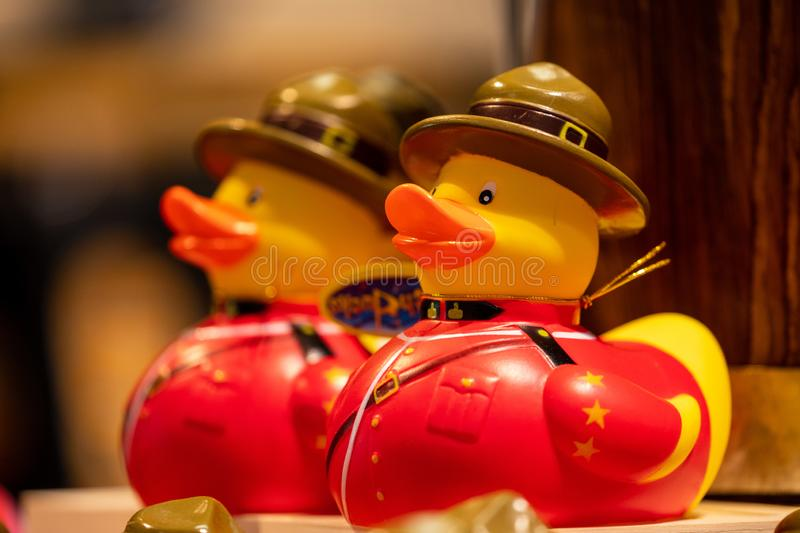 Canada RCMP Rubber Duck. A Canada RCMP Rubber Duck stock images