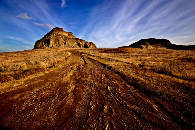 Canada Saskatchewan de bad-lands photo stock