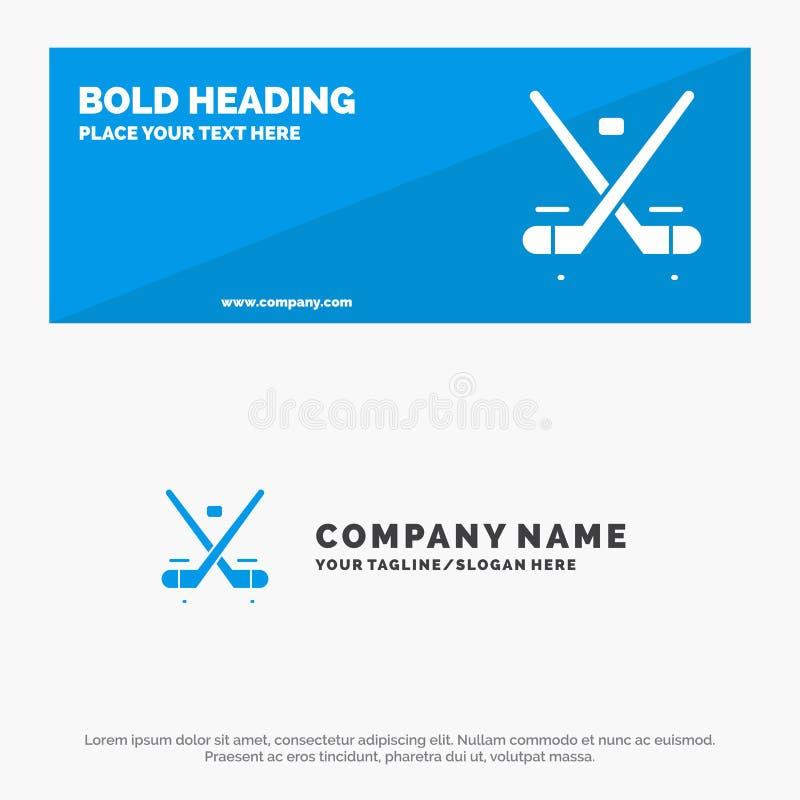 Canada, Spel, Hockey, Ijs, Olympics de Stevige Banner en Zaken Logo Template van de Pictogramwebsite vector illustratie