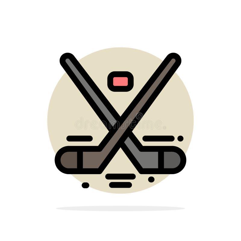 Canada, Spel, Hockey, Ijs, Olympics vat Cirkel Achtergrond Vlak kleurenpictogram samen stock illustratie