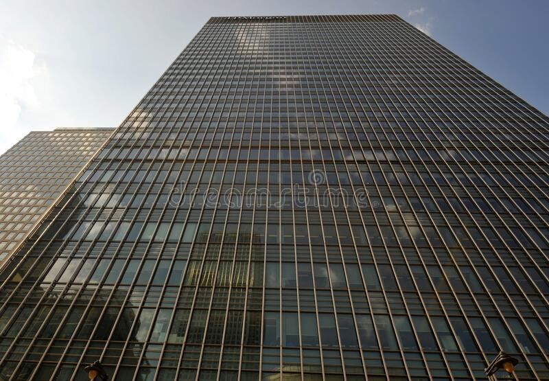 25 Canada Square Citibank building in Canary Wharf   is the joint 4th-tallest building in the United Kingdom. The Citigroup Centre is a building complex in stock image