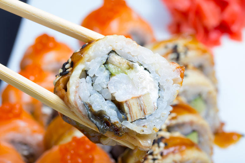 Download Canada sushi roll stock photo. Image of fish, ginger - 34621724