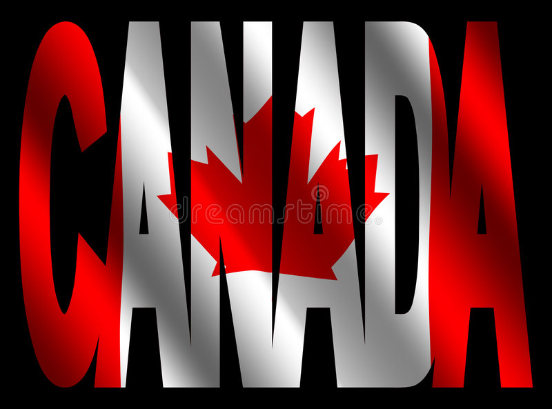 Download Canada Text With Canadian Flag Stock Illustration - Illustration of nation, canada: 5955808