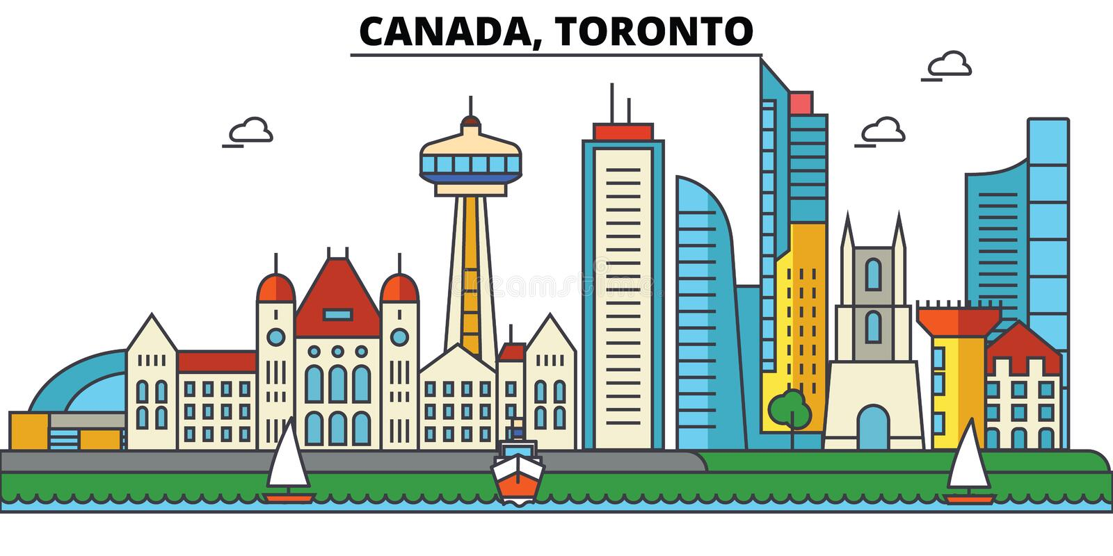 Canada, Toronto. City skyline architecture royalty free illustration