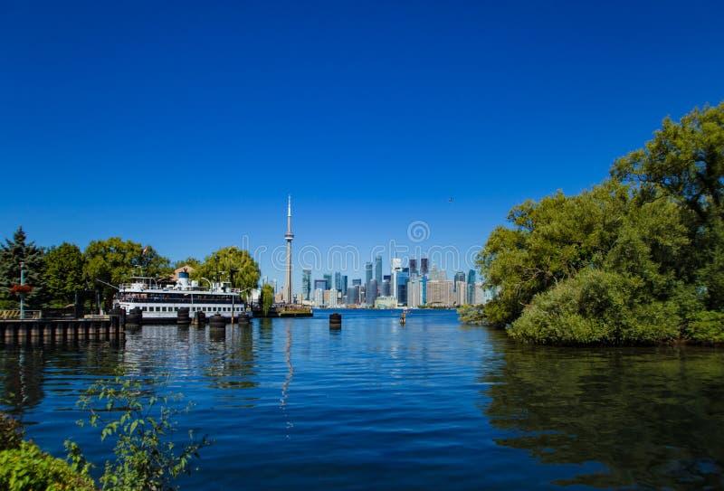 Canada 150! Toronto Island Ontario summer time stock image