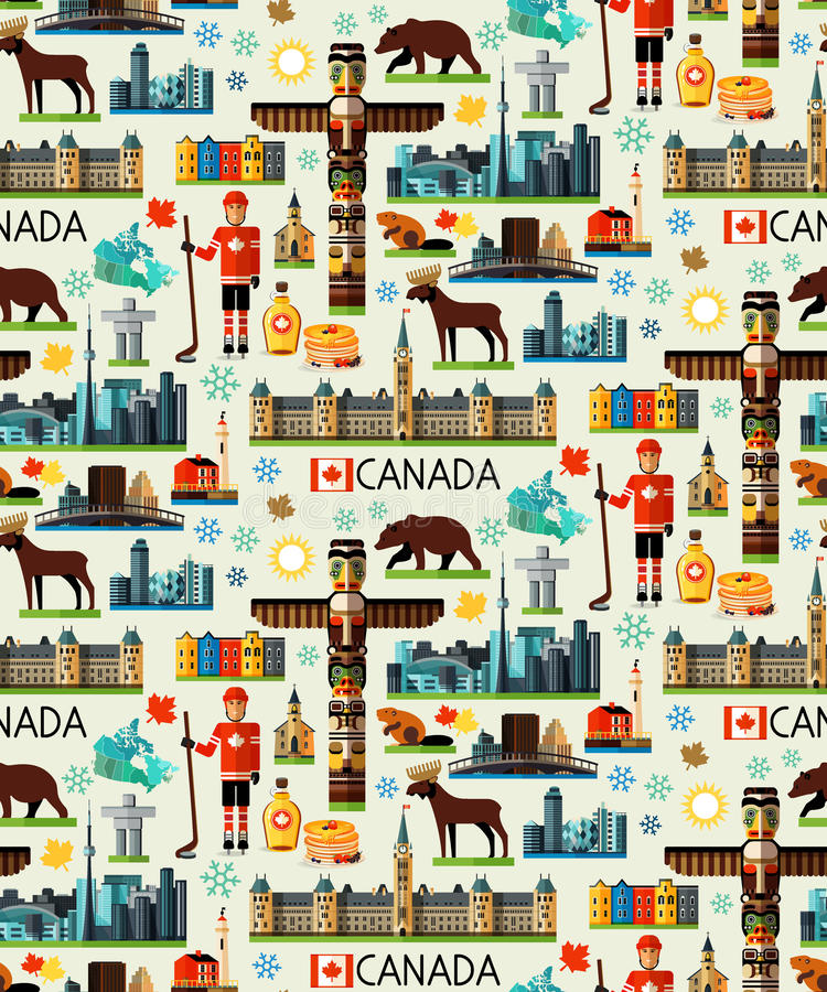Canada Travel Collection vector illustration