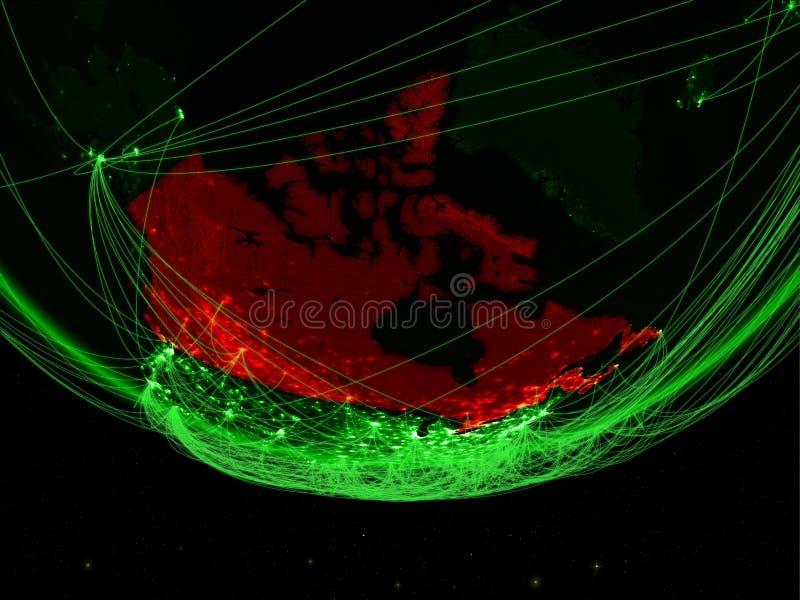 Canada van ruimte met netwerk vector illustratie