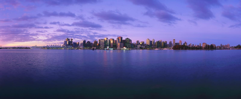 Download Canada - Vancouver stock photo. Image of twilight, horizontal - 12557716