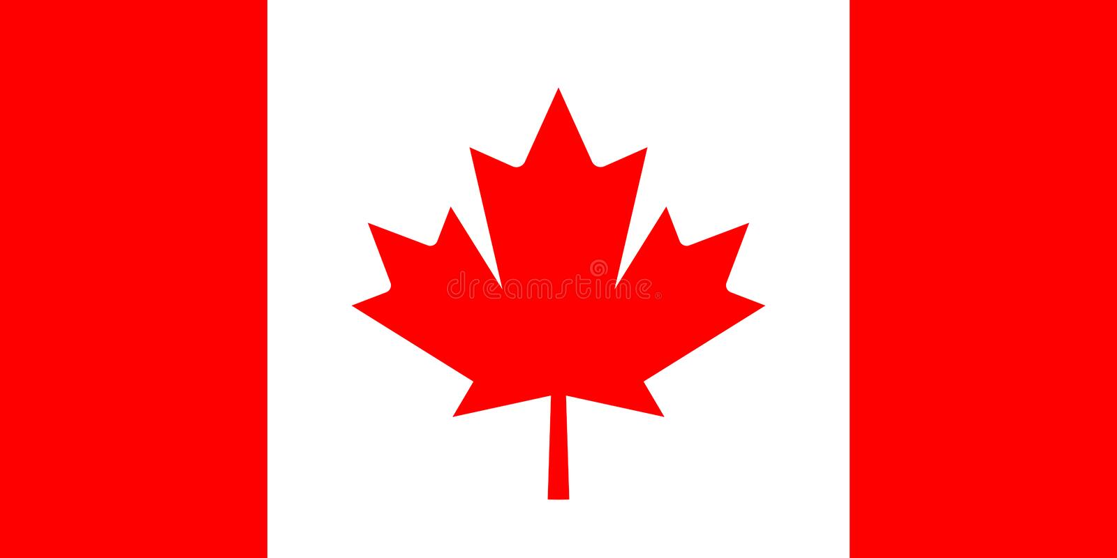 Canada vector flag royalty free illustration