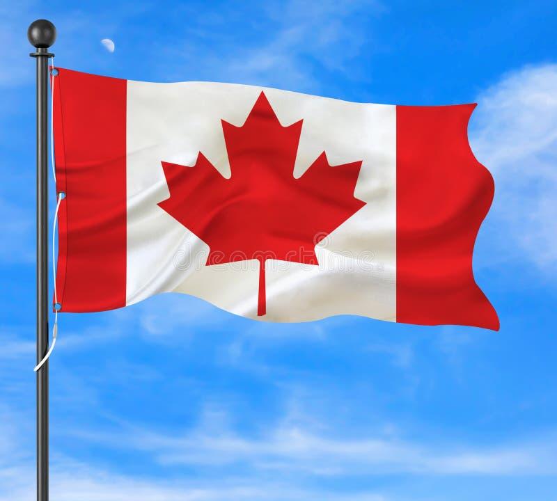 Canada Waving Flag stock photos