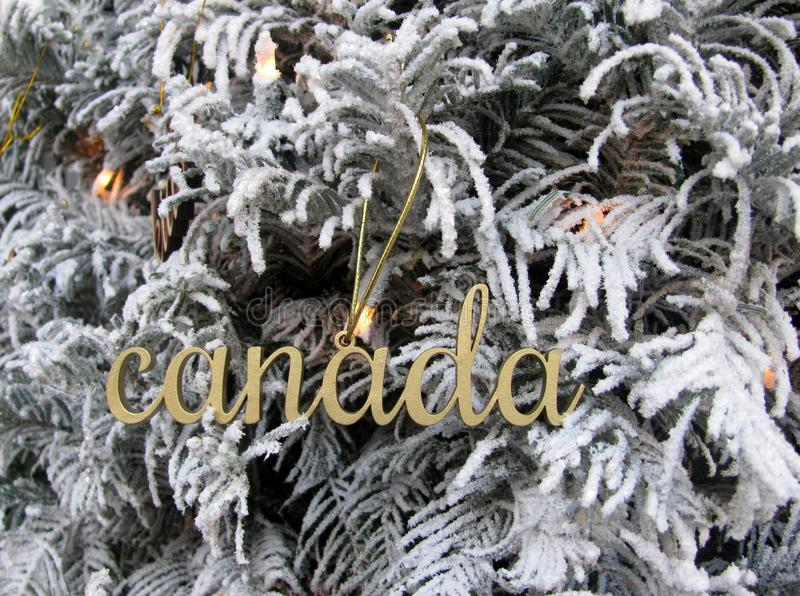 Canada word wooden cutout decoration. royalty free stock photos