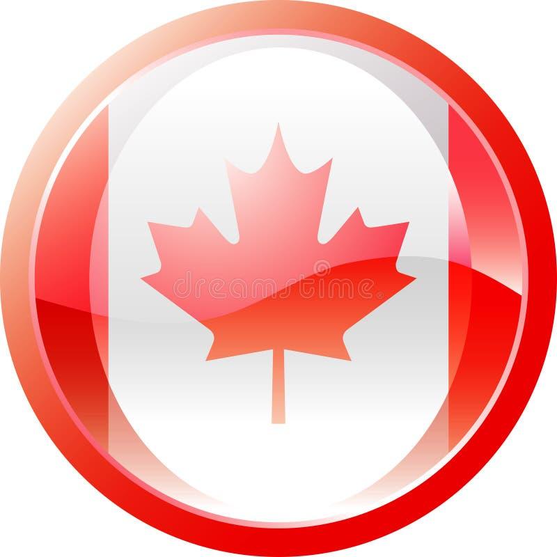 Canadabutton vector illustratie