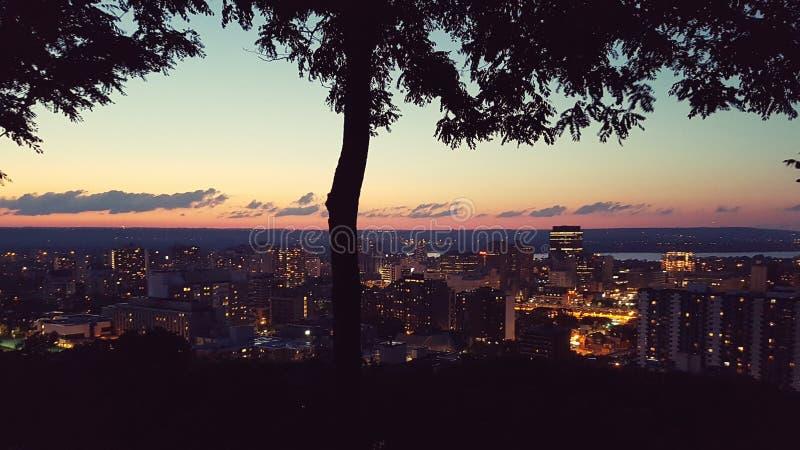 Canadaday 150 ηλιοβασίλεμα στοκ φωτογραφία με δικαίωμα ελεύθερης χρήσης