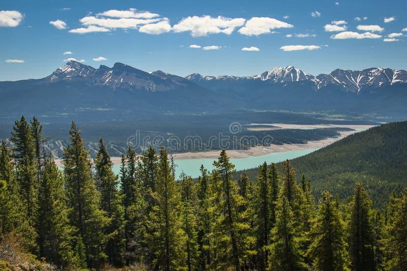 Canadainbergen van Allstone-randsleep dichtbij Nordegg royalty-vrije stock afbeelding
