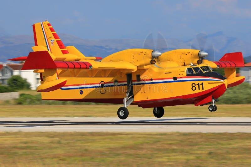 Canadair CL-415 lizenzfreies stockfoto