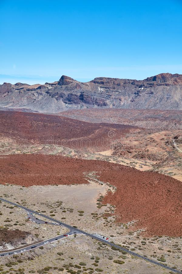 Canadas Del Teide kaldera, Tenerife, Hiszpania obraz royalty free