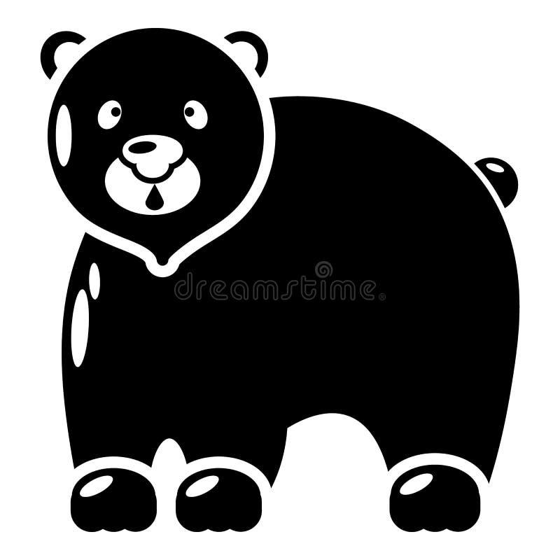 Download Canadees Draag Pictogram, Eenvoudige Zwarte Stijl Vector Illustratie - Illustratie bestaande uit noordpool, grizzly: 107708764